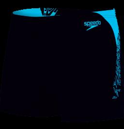 Speedo Boom Splice Aquashort - Black/Blue