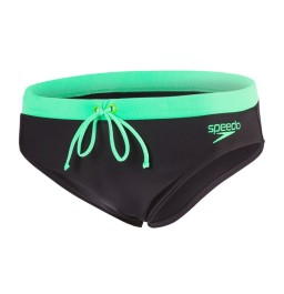 Speedo Contrast 7cm Brief Black/Green