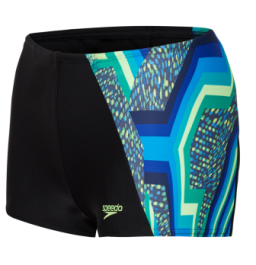Speedo Boys Digital Panel Aqua Shorts