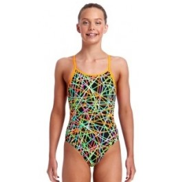 Funkita Girls Strapped In Diamond Back One Piece