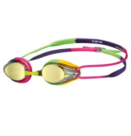 Arena Tracks Mirror Racing Goggles - Violet / Fuchsia / Green