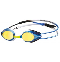 Arena Tracks Mirror Racing Goggles - Blue/Black/Blue