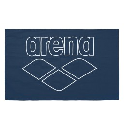Arena Pool Smart Microfibre Towel - Navy/White