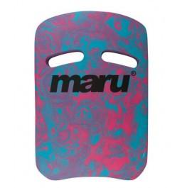 Maru Swirl Two Grip Fitness Kickboard Blue/Pink