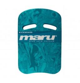 Maru Swirl Two Grip Fitness Kickboard Blue