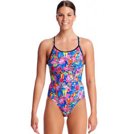 Funkita Womens Club Tropo Diamond Back One Piece