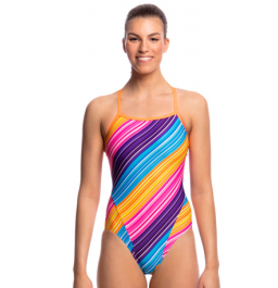 Funkita Womens Fine Lines Single Strap One Piece