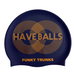 Funky Trunks Golden Balls Silicone Swim Cap