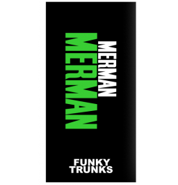 Funky Trunks Green Merman Towel