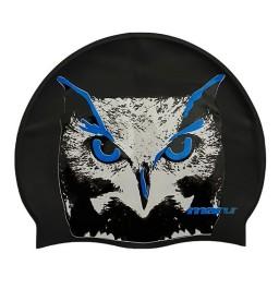 Maru Silicone Swim Hat - Owl Print