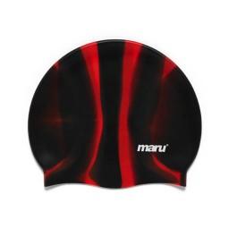Maru Silicone Swim Hat Black/Red