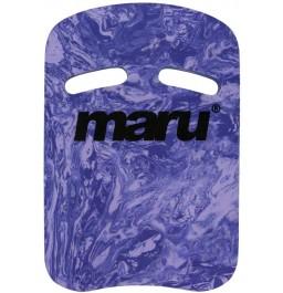 Maru Swirl Two Grip Fitness Kickboard Dark Purple/ Purple