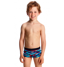 Funky Trunks Toddler Boys Mesh Up Square Trunks Printed Trunks