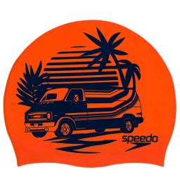 Speedo Slogan Print Cap - Orange/Blue