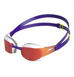Speedo Fastskin Elite Mirror Goggles - Purple White
