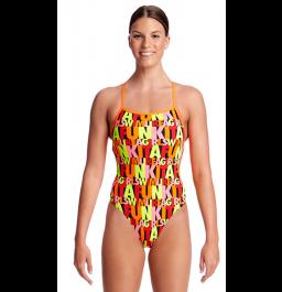 Funkita Womens Swim Girl Swim Strapped In One Piece