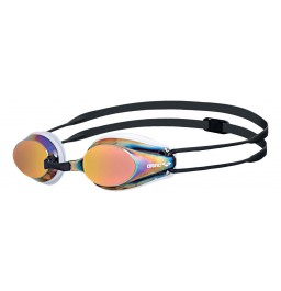 Arena Tracks Mirror Racing Goggles - White / Red