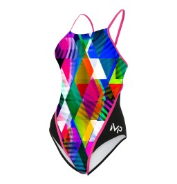 MP Michael Phelps Girls Zuglo One Piece Swimsuit Racerback
