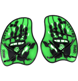 Arena Vortex Evolution Hand Paddle - Lime/Black Medium