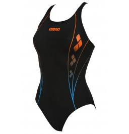 Arena W Web One Piece Black/Turquoise