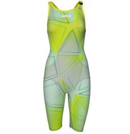 Arena Women's Powerskin R-EVO One Openback Kneeskin 2019 Limited Edition- Green Glass