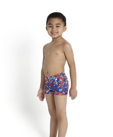 46c81612afd7a Speedo Infant Boys' Essential Allover Print Aquashort Blue/Navy