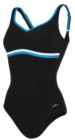 008031437dc5c Speedo Sculpture Contourluxe One Piece Swimsuit - Black/Blue