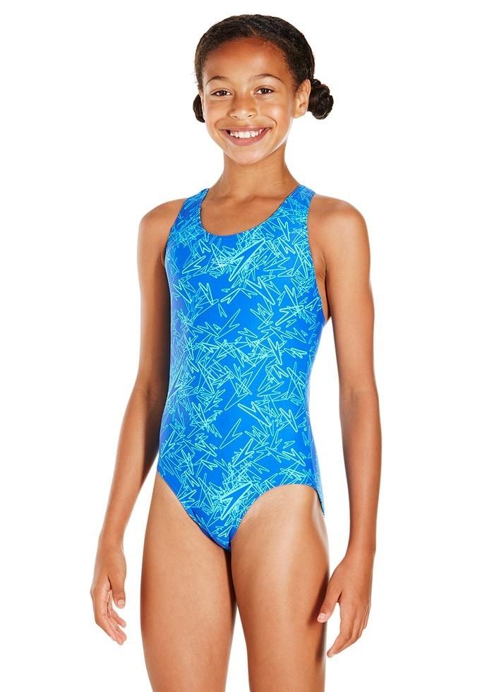 Speedo Boom Allover Splashback Swimsuit BlueBlue