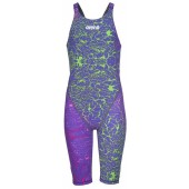 Arena Girls Powerskin ST 2.0 Limited Edition Kneesuit - Storm Pink & Green