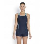 Speedo Women's Fit Tankini - Navy/Green
