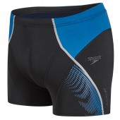 Speedo Fit Panel Aquashort - Black/Blue