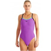 Speedo Ladies PowerFlash Muscleback Swimsuit Purple/Navy