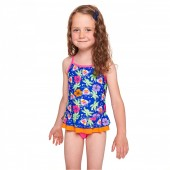 Zoggs Girls Carnival X Back Swimdress
