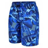 """Speedo Boys Printed 17"""" Swim Shorts - Navy/Blue"""