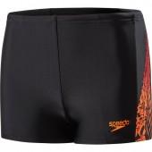 Speedo Lightning Spritz Panel Aquashort - Black/Orange