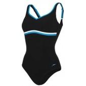 Speedo Sculpture Contourluxe One Piece Swimsuit - Black/Blue