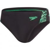Speedo Boom Splice 7cm Brief - Black/Green