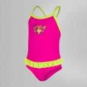 Speedo Frill Swimsuit - Pink/Navy