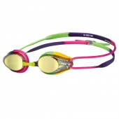 Arena Tracks Mirror Racing Goggles - Violet / Fuchsia / Green