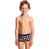 Funky Trunks Toddler Boys Angry Ram Square Trunks Printed Trunks