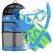 Aqua Lung Junior Dorado Mask, Snorkel, Fin Blue