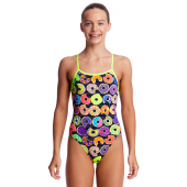 Funkita Girls Dunking Donuts Single Strap One Piece