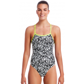 Funkita Womens Bleached Coral Tie Me Tight One Piece