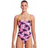 Funkita Womens Pop Palms Cut Away One Piece