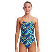 Funkita Girls Boarded Up Diamond Back One Piece
