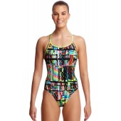 Funkita Womens Interference Diamond Back One Piece