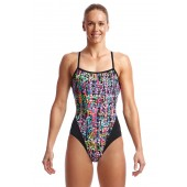 Funkita Womens Flickering Forest Single Strap One Piece
