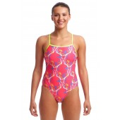 Funkita Womens Sweet Skulls Single Strap One Piece