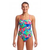 Funkita Womens Texta Towers Single Strap One Piece
