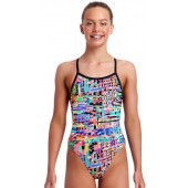 Funkita Girls Full Metal Funky Single Strap One Piece